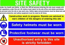 Building / Construction Site Complete Safety Sign Pack Set Starter Build Rigid