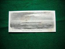 Gravure année 1860 Iles à coraux: oeno, dans l'archipel Pomotou