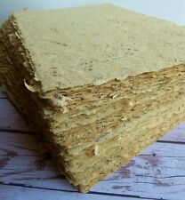 8 Sheets of Handmade Paper - 8.5 in x 5.5 in - charming, vintage, antique look!