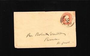 Clifton Springs NY 3 cent Buff PSE G.F. Nesbitt Seal c1853 Newspaper Everett  ZG