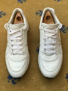 Gucci Mens Trainers Sneaker Shoes White Leather UK 10.5 US 11 EU 44.5 Low Top