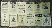 WYATT EARP MARSHAL LAW-DOGS WANTED  POSTERS, Novelty reproductions, SET J,