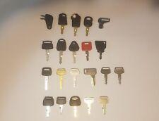 (21) Heavy Equipment Construction Keys Excavator Skidder Paver Loader Key Set