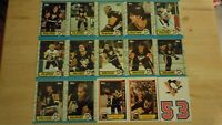 1989-90 Topps PITTSBURGH PENGUINS Team Set - 15 Total Cards - Includes 3 Inserts
