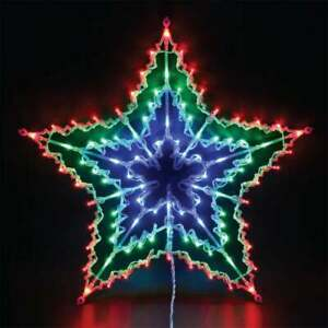 100 LED STAR LIGHT SILHOUETTE WINDOW FLASHING SPINNER CHASER XMAS CHRISTMAS BNIB