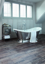 PVC Bodenbelag mit Schriftzügen, hellbraun (9,95€/m²) - 2m 3m 4m Breite (1/2)