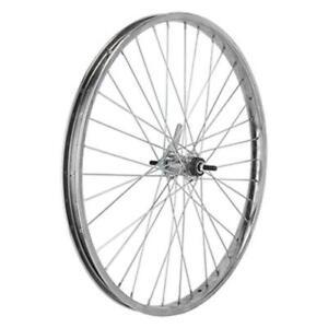 """CRUISER BIKE BICYCLE 24"""" X 2.125 36 Spoke Coaster Wheel 12G Chrome"""