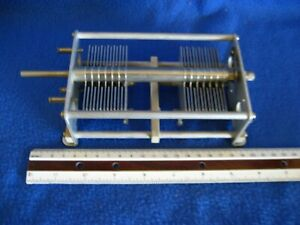 Variable capacitor 2 section (100pf X2) for linear amplifier NOS tested