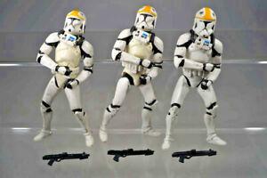 """Hasbro Star Wars  - Saga Collection - 3x Clone Pilot (Gunship)  -  3,75"""" - T47"""