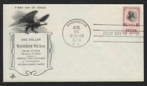 1954 Prexy $1 Sc 832c FDC with plate number 25026 Art Craft