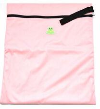 Coqui Baby GO FLUFF! Wet Bag in Pink - Cloth Diaper Bag