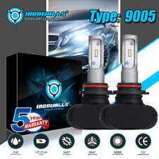 2x 9005 HB3 CSP LED Headlights Bulbs Kit Fanless High Beam 2100W 315000lm 6000K