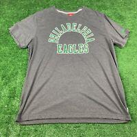 Men's 2XL Philadelphia Eagles Nike NFL T Shirt Gray Soft Spellout Vintage Style