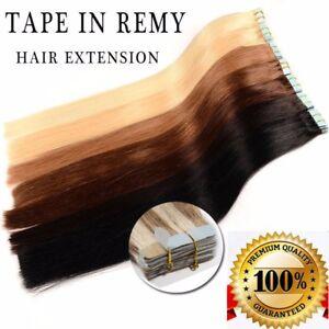 100% Remy Echthaar 40 Tressen Tape In Extensions Haarverlängerung 40-60cm hcwhn