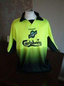 """HIBERNIAN Original 1998 le coq sportif Luminous Away Shirt 46-48"""" Rare LCS HIBS"""