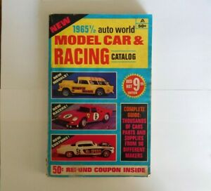 Vintage 1965 1/2  Auto World's Model Cars & Racing  9th Edition Catalog Magazine