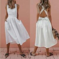 Womens Long Dresses Ladies Party chunky Loose Party sexy UK Maxi Wrap Dresses