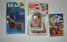 Vintage bill elliott collectible car key chain knife card