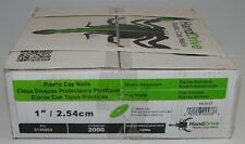 """National Nail 0135053 1"""" Plastic Cap Nail 2000CT"""