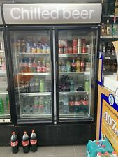 More details for tefcold fsc1200h double hinged glass door upright refrigerator local collection