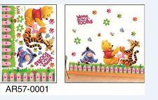 Winnie The Pooh Garden Wall Art Removeable Stickers Children's Bedroom Nursery