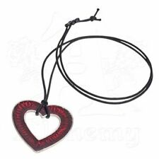 *LOVE OVER DEATH* Alchemy Gothic 1977 Pewter Pendant (P803)