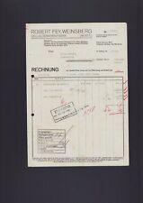 WEINSBERG, Rechnung 1938, Robert Fey Celluloidwaren-Fabrik