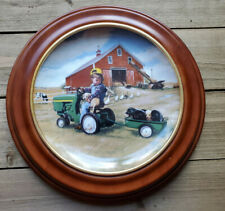 Tractor Ride Danbury Mint Collectible Plate by Donald Zolan w/ Coa