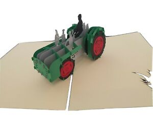 3d pop up Tractor Card