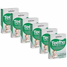 6 x NELSONS BABY TEETHA TEETHING GRANULES - 24 SACHETS - EXP- 06/2021