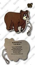 Black Bear Cache Buddy For Geocaching (Travel Bug Geocoin)