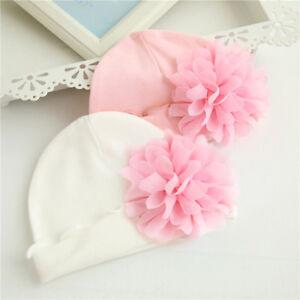 Newborn Baby Girls Autumn Hat Infant Toddler Flower Hat Cotton Soft Hat Cap Gift