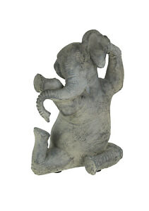Amazingly Limber Elephant Yoga Seated Pose Tabletop Statue 9 Inches High