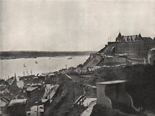 QUEBEC. View showing the citadel and the St. Lawrence. Canada 1895 old print