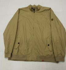 MEN'S HARRINGTON JACKET  FOR THE LARGER MAN,  IN  BEIGE , SIZE 5 X L. NEW