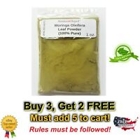 Moringa Oleifera Leaf Powder 100% Pure Natural Raw  1 oz. Hoja de Moringa