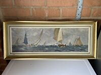 """David R MacGregor Painting """"A Good Day's Sail"""" (in Blakeney Pit) Signed"""