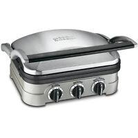 Cuisinart GR-4N 5in1 Griddler Panini Press Full Grill/Griddler Indoor Grill-New