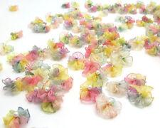 Chiffon Ribbon Rosette Flower multi color   set of 8