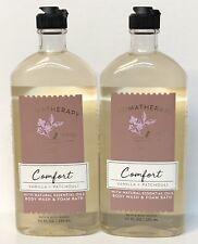 2 Bath & Body Works Aromatherapy COMFORT VANILLA PATCHOULI Body Wash Foam Bath