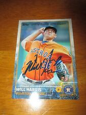 "WILL HARRIS Astros Signed 2015 Topps Update ""Future Stars"" card AUTO Autograph"