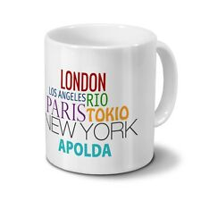 "Städtetasse Apolda - Design ""Famous Cities in the World"""