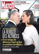 PARIS MATCH N° 3570--AFFAIRE WEINSTEIN/MENACE NUCLEAIRE/RAQQA/ROLLING STONES