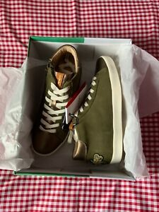 JOULES WOMENS TILDY SUEDE LEATHER MID HIGH TOP TRAINERS - BEE - SIZE 6 - LAST 1!