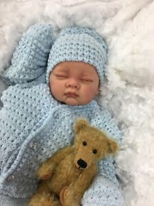 REBORN LIFELIKE BOY BABY IN SPANISH KNITTED SET FULL LIMBS 017 - BUTTERFLY BABY