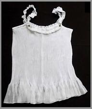 WHITE PLEATED SHEER BABYDOLL CHEMISE NIGHTIE SZ XL AUS 16