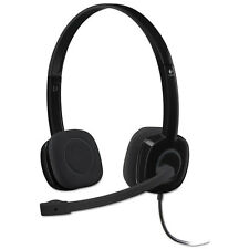 Logitech H151 Binaural Over-the-Head Stereo Headset Black 981000587