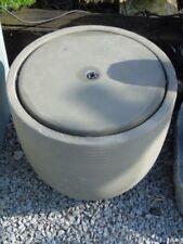 fontaine de jardin en béton-fibre complète , bassin , pompe , éclairage !