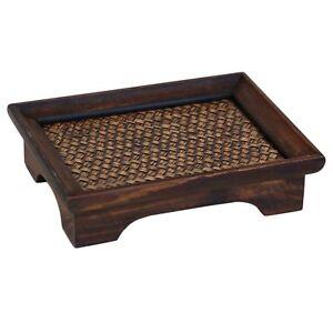 Tablett Hocker Kerzentisch Bonsaitisch Pflanzen Tischchen Holz Opiumtisch