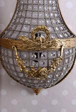 Kristallleuchter Antik Wandleuchte Wandlampe Vintage Wandlüster Korblüster 70cm